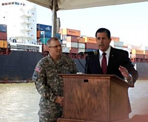 Savannah harbor deepening press conference