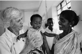Lillian Carter, mother to Jimmy Carter, serves in India in the Peace Corps.