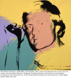 """Jack Nicklaus silkscreen by Andy Warhol in """"The Art of Golf"""" at Atlanta's High Museum"""