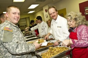 Photo of Mary Lou Austin, chef and soldier at USO.