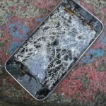 Photo of broken cell phone