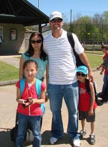 Buddy Carlyle with the Nakagawa family
