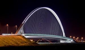 A Calatrava bridge in Italy