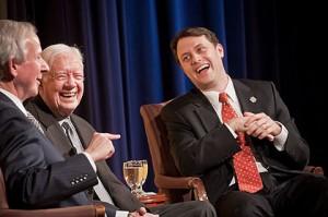 Former President JImmy Carter and his grandson, Georgia State Sen. Jason Carter (Credit