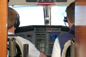 Pilot Sean Sanders on the left and co-pilot Chad Brammer on the right. Photos by Stacy Shelton