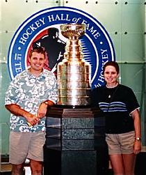 Dana and Scott Thompson at Hockey Hall of Fame
