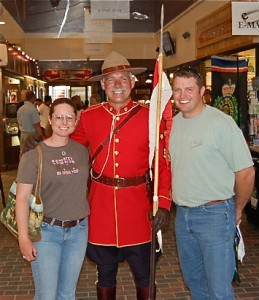 Dana and Scott Thompson with a Mountie