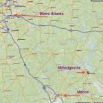Milledgeville map