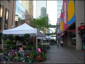 Street scene in downtown Minneapolis