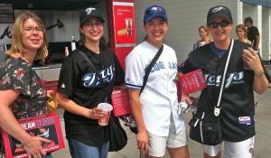 Four Ontario fans of the Tortonto Blue Jays