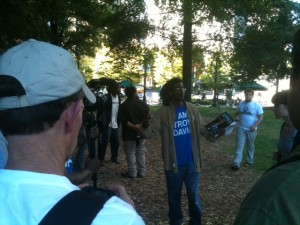 The execution of Georgia inmate Troy Davis was remembered by Occupy Atlanta. Credit: David Pendered