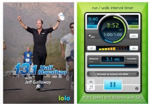 Screenshot of Jeff Galloway's 5K app