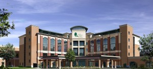 Rendering of Cancer Treatment Centers of America facility in Newnan. Credit: CTCA