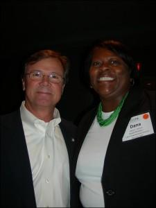 Vance Smith chats with GDOT board member Dana Lemon on LINK trip